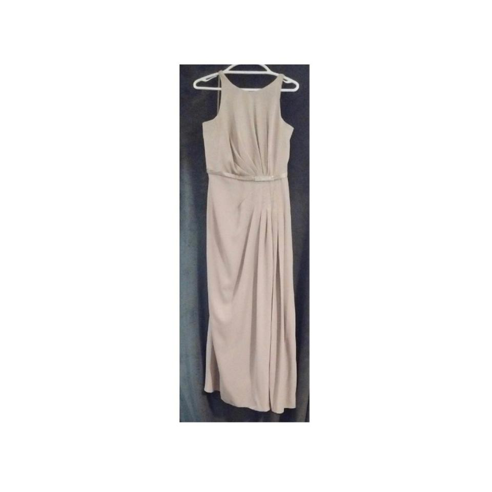 David S Bridal Beige Evening Gown Long Formal Dress Size 12 L