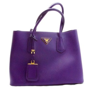 Prada Saffiano Leather Tote in Purple
