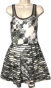 Parker short dress black and white on Tradesy