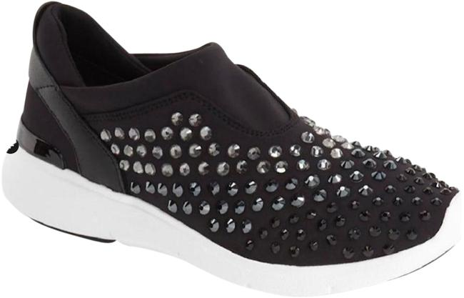 Item - Black With Tags Ace Crystal Encrusted Trainer Sneakers Size US 6 Regular (M, B)