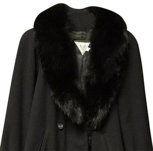 Marvin Richards Wool And Fur Coat