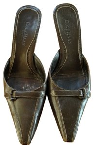 Cole Haan Brown with white stitch trim Mules