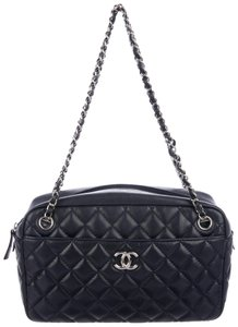 Chanel Classic Flap Cc Logo Quilted Lambskin Camera Case Quilted Shoulder Bag