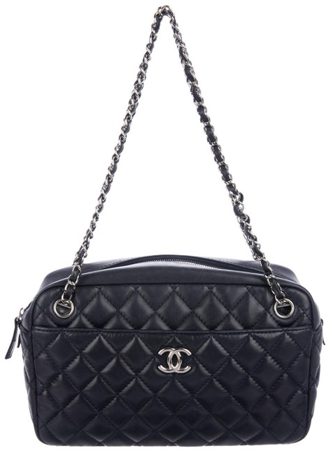 Chanel 2.55 Reissue Camera Case Classic Medium Quilted Flap Tote Satchel Navy Blue Lambskin Leather Shoulder Bag Chanel 2.55 Reissue Camera Case Classic Medium Quilted Flap Tote Satchel Navy Blue Lambskin Leather Shoulder Bag Image 1