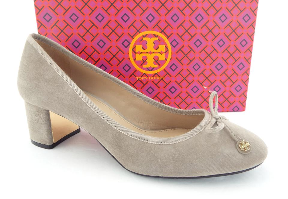 f05d1306c39 Tory Burch Ballet Round Toe Reva French Slip On Dust Storm Grey Pumps Image  0 ...