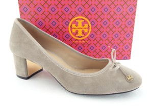Tory Burch Ballet Round Toe Reva French Slip On Dust Storm Grey Pumps