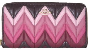 Coach COACH ACCORDION ZIP WALLET WITH OMBRE QUILTING F31954