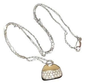 "Mirabella SOLID 18K 18KT GOLD MIRABELLE DIAMOND PURSE BAG PENDANT + 17"" CHAIN"