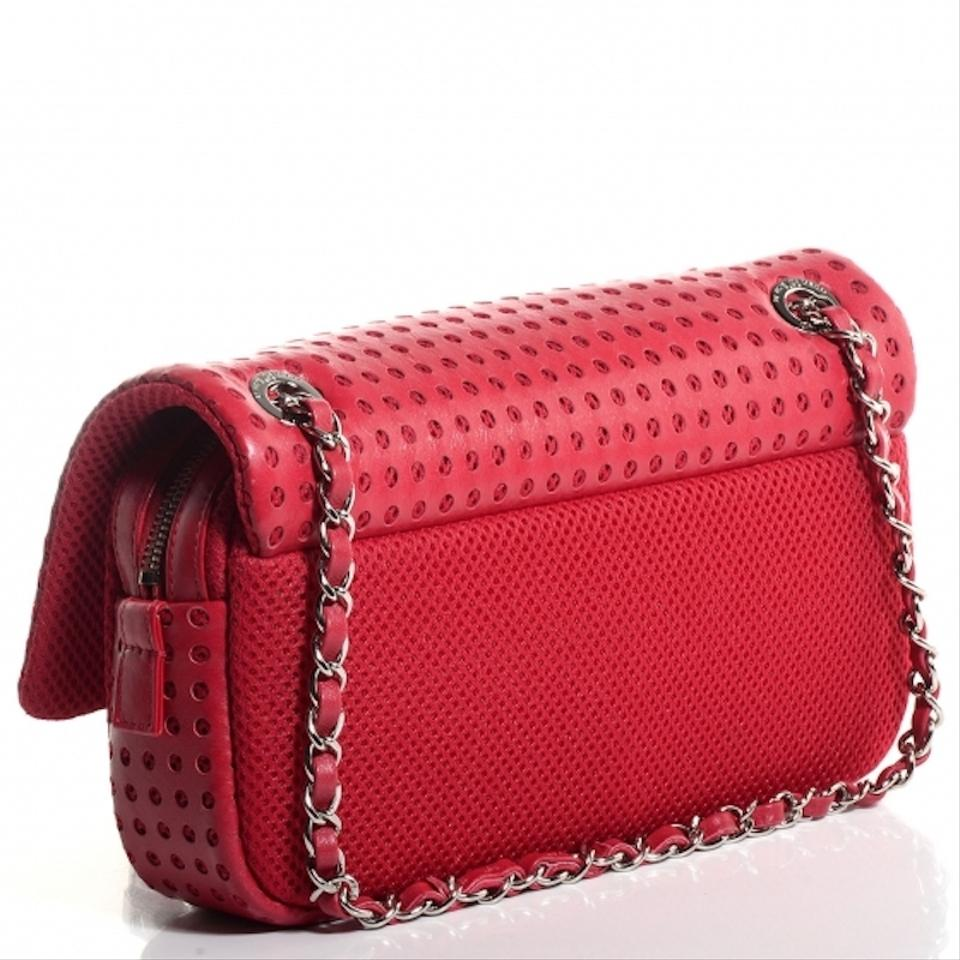 6b7f389a673e Chanel Classic Jumbo Perforated Flap Easy Shoulder Bag Image 11.  123456789101112