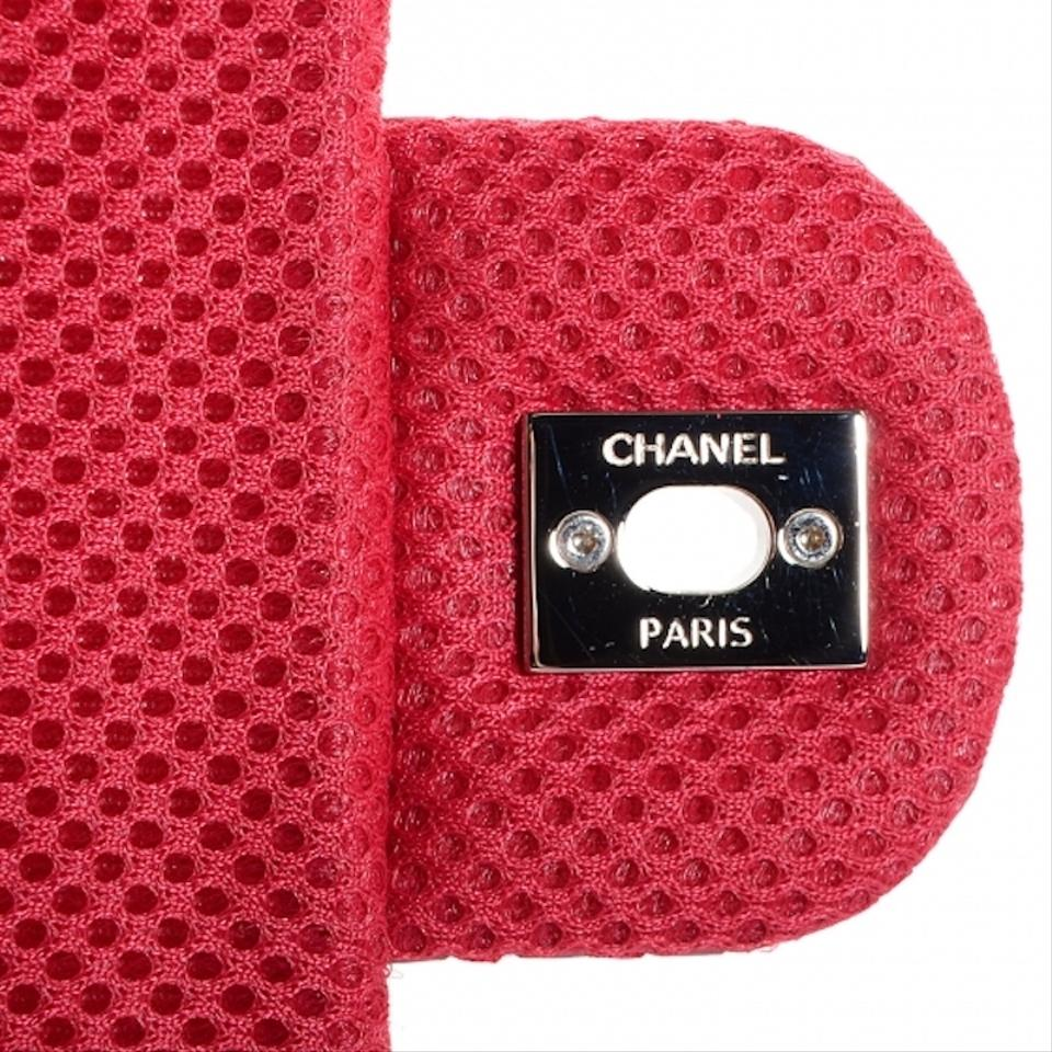 161a76a5077f Chanel Easy Perforated Drill Classic Mesh Quilt Single Flap Cc Logo Red  Lambskin Leather Shoulder Bag - Tradesy