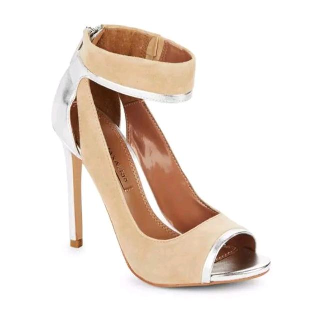 Item - Nude and Silver Charlotta Sandals Size US 7.5 Regular (M, B)