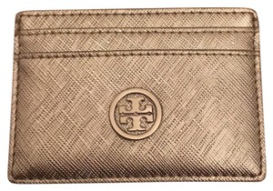 Tory Burch silver cardholder