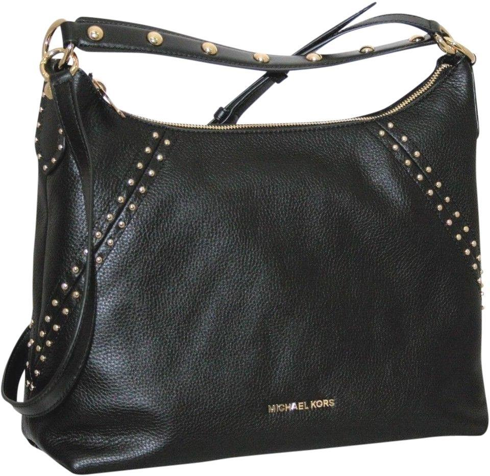 7d14c875119d Michael Kors Aria Black Leather Hobo Bag - Tradesy
