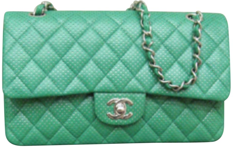 9eb398e30ef2b4 Chanel Perforated Classic Flap Drill Double Flap Quilted Lambskin Shoulder  Bag Image 0 ...