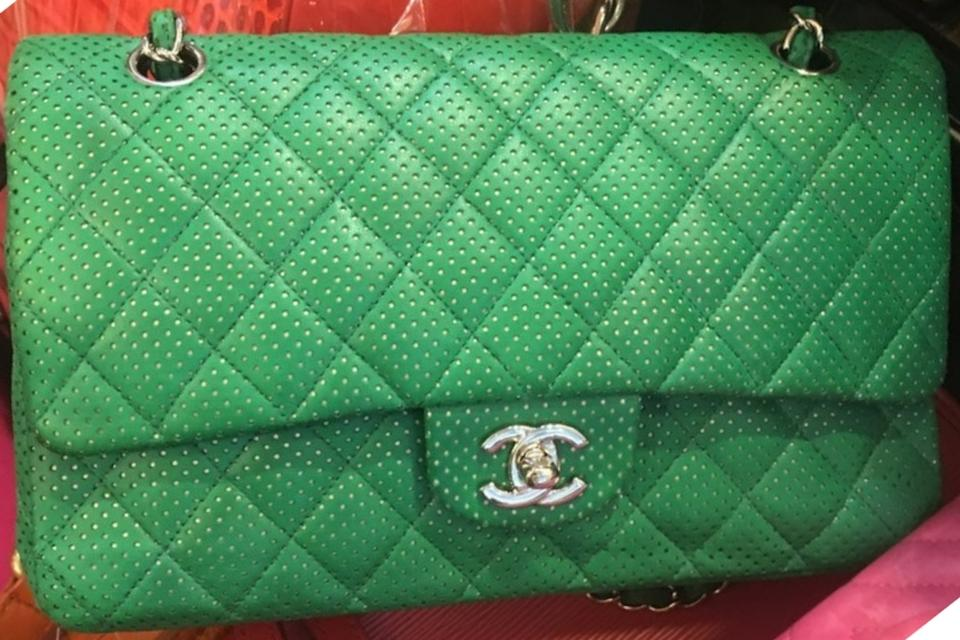 86fa5460d80269 Chanel Perforated Classic Flap Drill Double Flap Quilted Lambskin Shoulder  Bag Image 11. 123456789101112