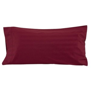 Rich Plum Set Of Four 400-count Egyptian Cotton Damask Stripe Pillow Cases Other