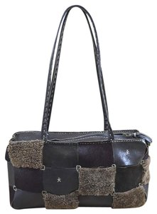 Henry Beguelin Leather Fall Winter Casual Patchwork Shoulder Bag