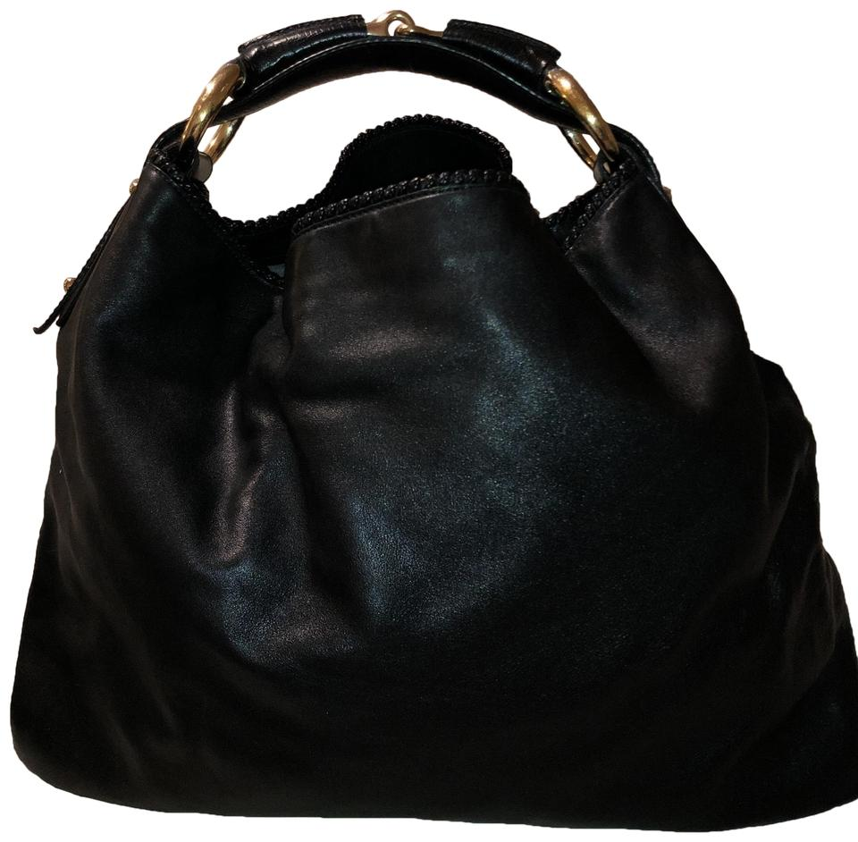 adc2a70473d Gucci Horsebit With Gold Hardware Lambskin Leather Hobo Bag - Tradesy