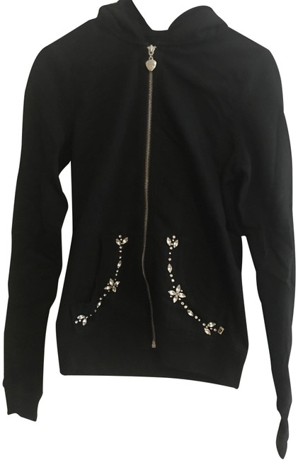 Twisted Heart Black Crystal Snowflake and Matching Bottoms Activewear Outerwear Size 4 (S) Twisted Heart Black Crystal Snowflake and Matching Bottoms Activewear Outerwear Size 4 (S) Image 1