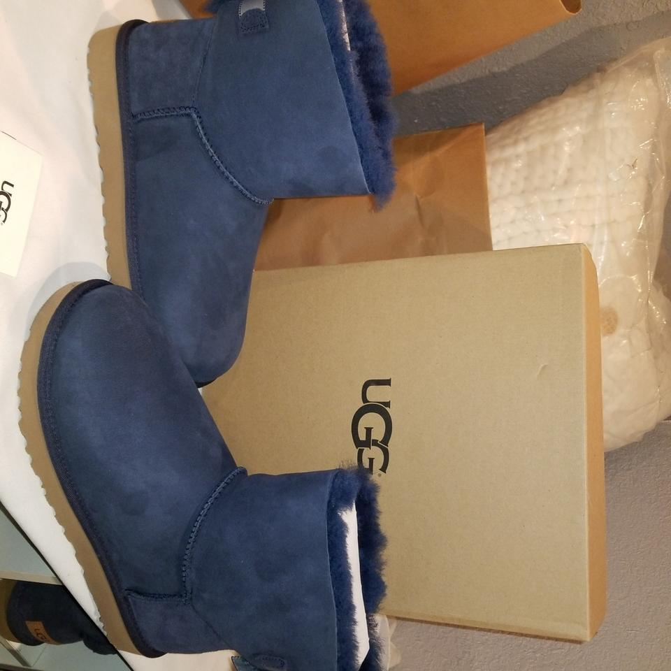 c5f8c3ddeb3 UGG Australia Navy W Mini Bailey Bow Ii Shimmer Water Resistant  Boots/Booties Size US 10 Regular (M, B) 20% off retail