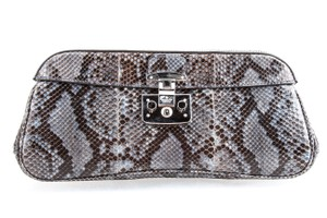 Gucci Python Rare Collectible Python Exotic Leather Multicolored Clutch