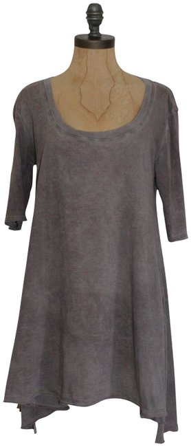Item - Gray Acid Wash Tunic Size 6 (S)