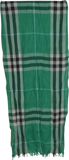 Burberry NWT BURBERRY CHECK CASHMERE WOOL CRINKLED SCARF WRAP Image 3