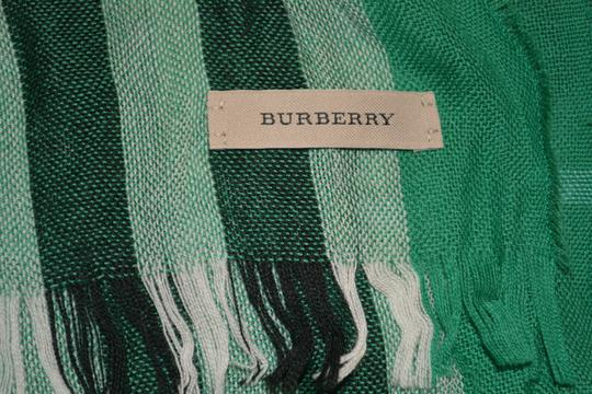 Burberry NWT BURBERRY CHECK CASHMERE WOOL CRINKLED SCARF WRAP Image 4
