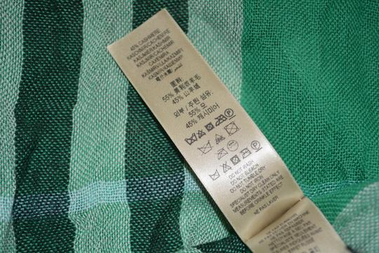 Burberry NWT BURBERRY CHECK CASHMERE WOOL CRINKLED SCARF WRAP Image 5