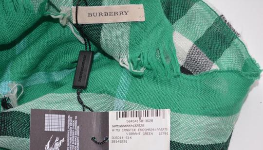 Burberry NWT BURBERRY CHECK CASHMERE WOOL CRINKLED SCARF WRAP Image 6