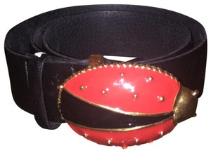 Carlisle Carlisle Leather Belt w Ladybug Buckle