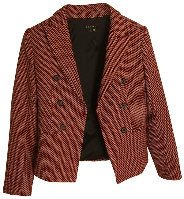 Item - Black Tan and Orange Weave C119172r Blazer Size 8 (M)