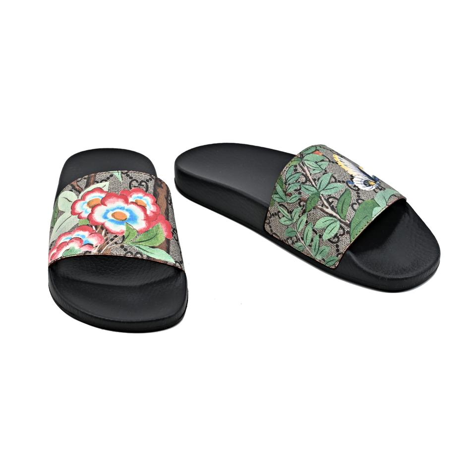 5bf34ce18d57 Gucci Multicolor Women s Gg Supreme Tian Printed Slides Sandals Size EU 38  (Approx. US 8) Regular (M