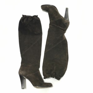 Michael Kors Knee High Leather Suede Brown Boots
