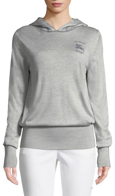 Item - Grey Mark Down Print Cashmere Hoodie Med Activewear Size 8 (M)