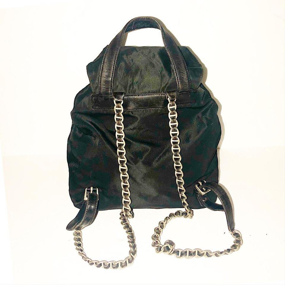d15e06062d8964 Prada Nero Nylon Mini Chain Backpack - Tradesy