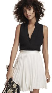 Express Portofino Sleeveless Top BLACK