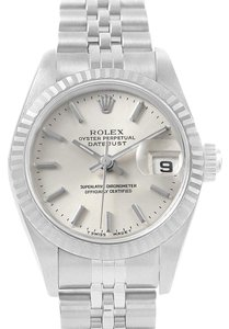 Rolex Rolex Datejust 26 Steel 18K White Gold Fluted Bezel Ladies Watch 69174
