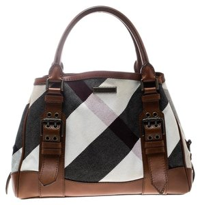 Burberry Canvas Leather Tote in Multicolor