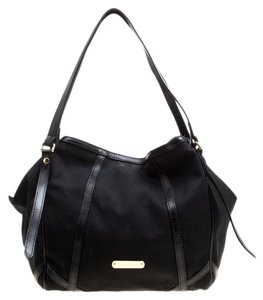 Burberry Canvas Tote in Black