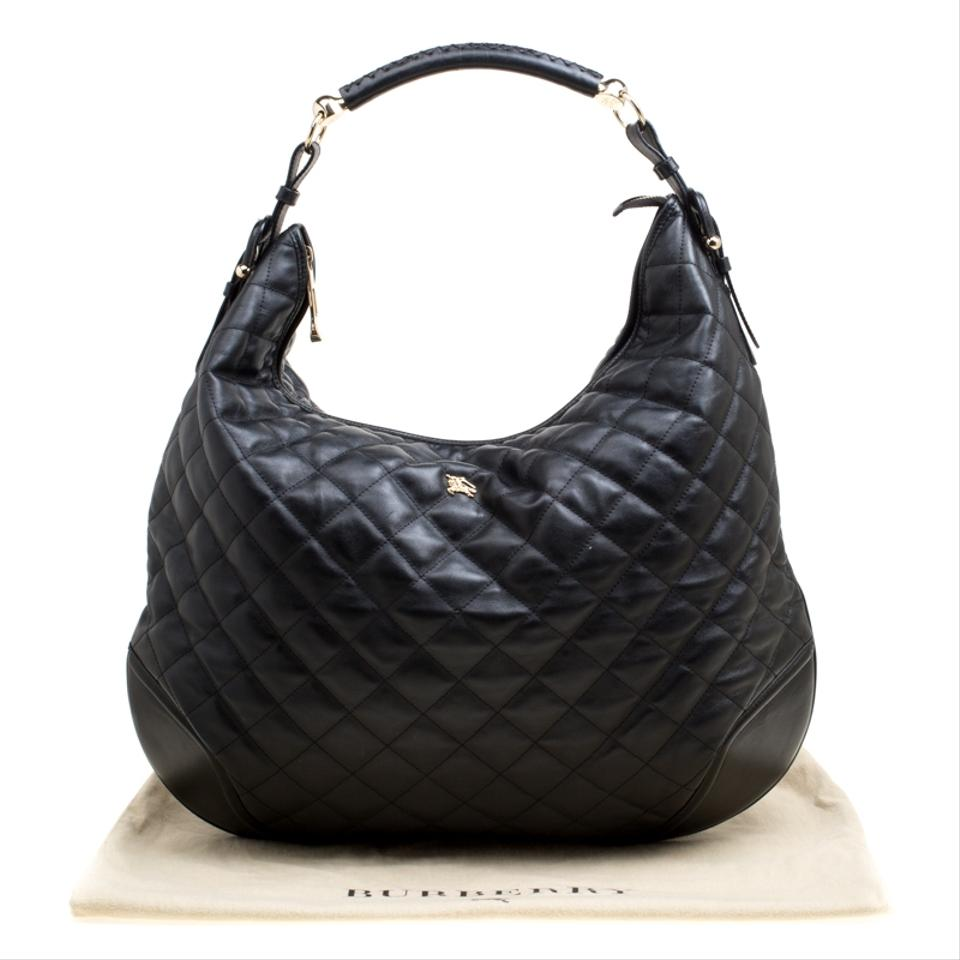 eccf12f88a0c Burberry Quilted Hoxton Black Leather Hobo Bag - Tradesy
