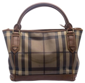 Burberry Canvas Tote in Brown