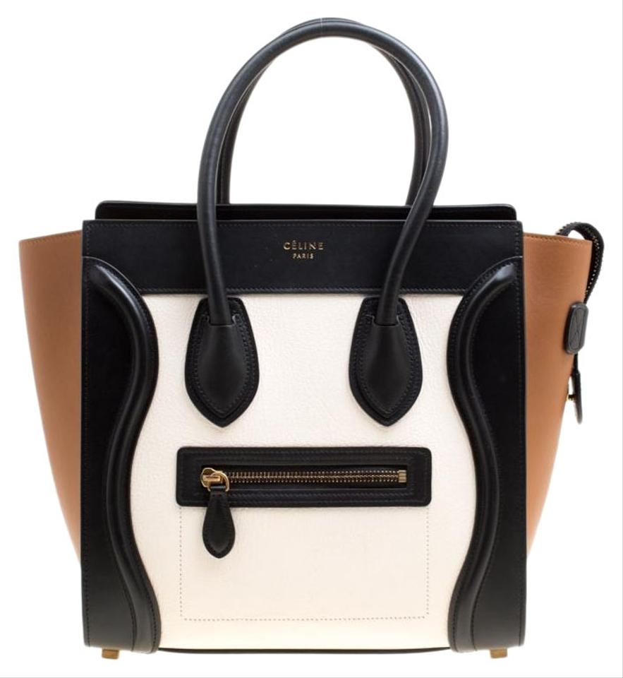 Céline Luggage Micro Tricolor Leather Tote - Tradesy 62ae6a590730c