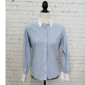 f817de5046 Thom Browne Blue Shirt Button-down Top Size 4 (S) - Tradesy