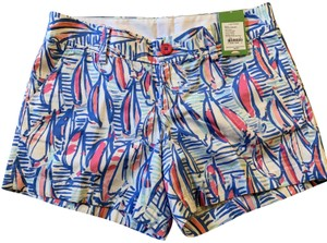 Lilly Pulitzer Mini/Short Shorts red white blue
