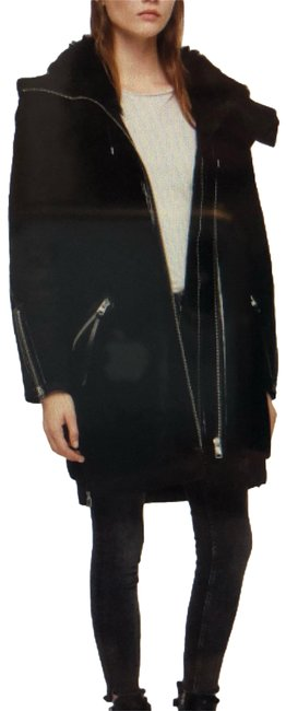 Item - Black State Lux Suede Parka with Genuine Shearling Trim Coat Size 4 (S)