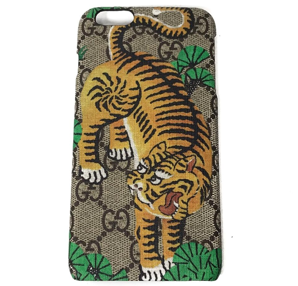 best service 32a8a 40cad Gucci Multicolor New 452365 Gg Supreme Bengal Iphone 6 Plus Phone Cover  Tech Accessory 59% off retail