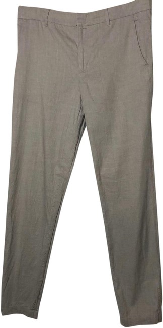 Vince Grey Linen Fitted Pants Size 10 (M, 31) Vince Grey Linen Fitted Pants Size 10 (M, 31) Image 1