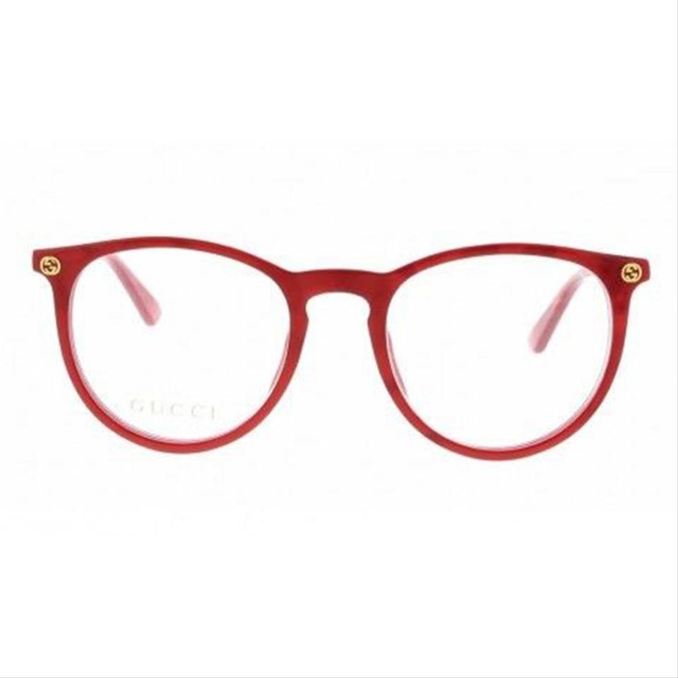 1b374101f1 Gucci Red Frame   Demo Lens Gg0027o 004 Women s Round Style ...