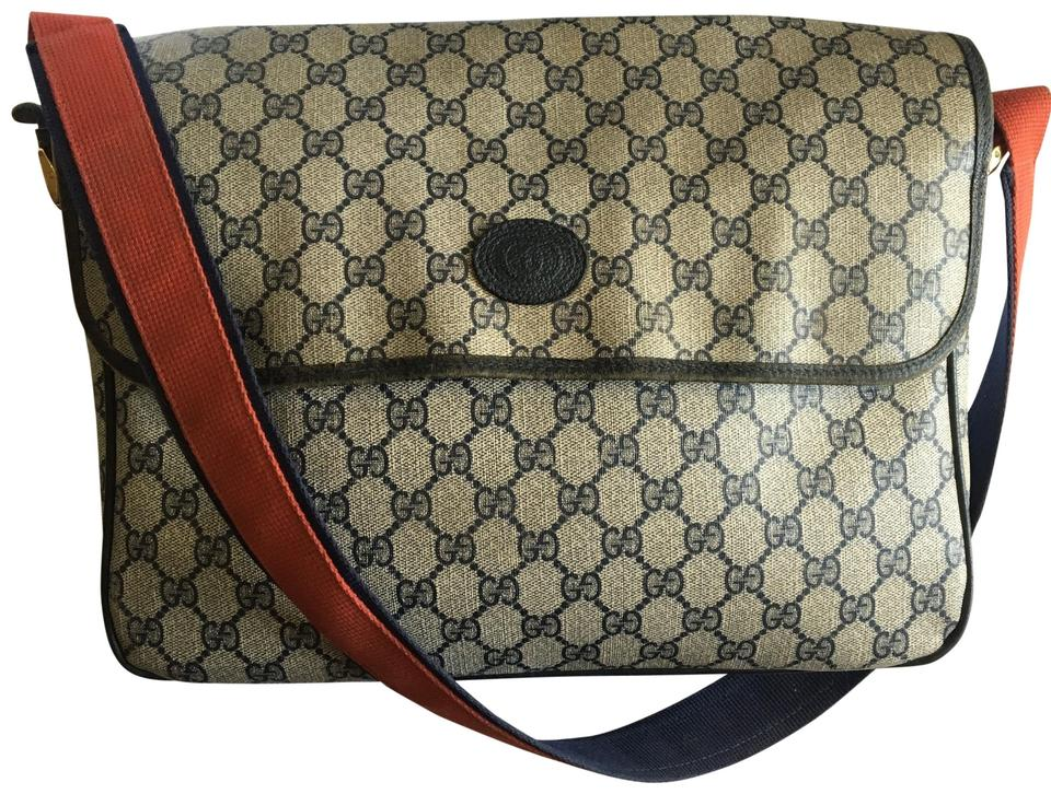 062054434bb7 Gucci Monogram Logo Canvas and Leather Messenger Bag - Tradesy
